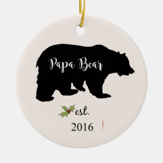 papa bear christmas ornament, dad ornament
