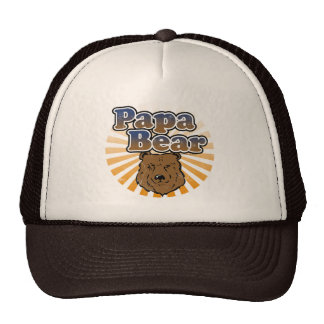 Papa Bear, Cool Fathers Day Vintage Look Cap