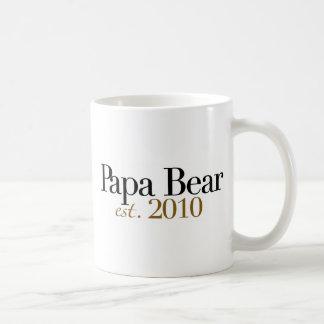Papa Bear Est 2010 Coffee Mugs