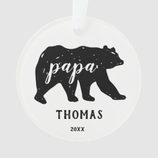 Papa Bear Family Modern Christmas Ornaments