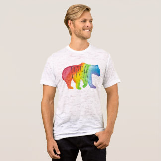 Papa Bear Family Pride Burnout Tee