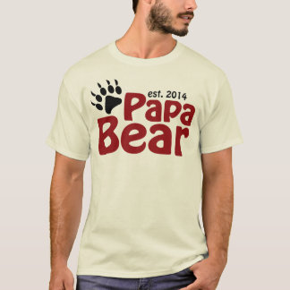 Papa Bear New Dad 2014 T-Shirt