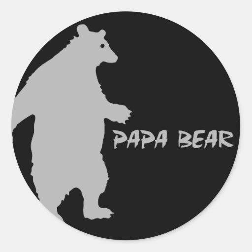 Papa Bear Round Sticker