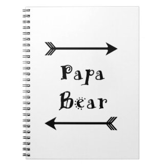 Papa Bear Spiral Notebook