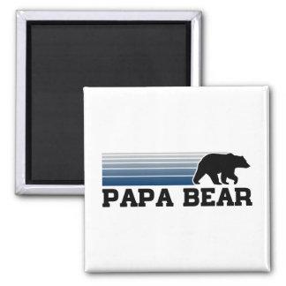 Papa Bear Square Magnet