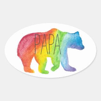 Papa Bear Watercolor Family Pride Sticker