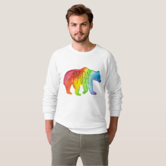 Papa Bear Watercolor Family Pride Sweatshirt