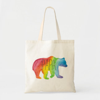 Papa Bear Watercolor Family Pride Tote