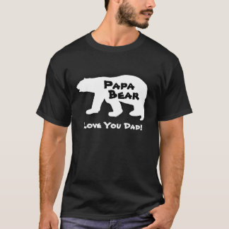 Papa Bear, White Polar Bear  T-Shirt
