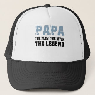 Papa (Blue-Black) Trucker Hat
