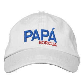Papa Boricua: Puerto Rico Embroidered Cap
