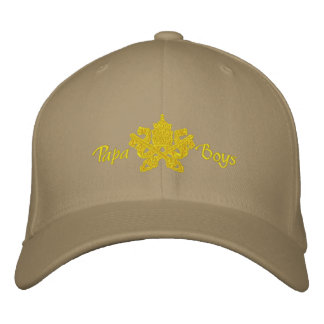 Papa Boys cap cappellino Embroidered Hat