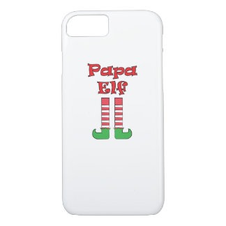Papa Elf Matching Couple Christmas iPhone 8/7 Case