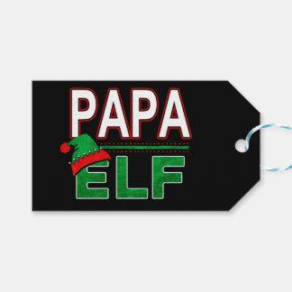 Papa Elf | Team Elf Christmas Holiday Family | Gift Tags