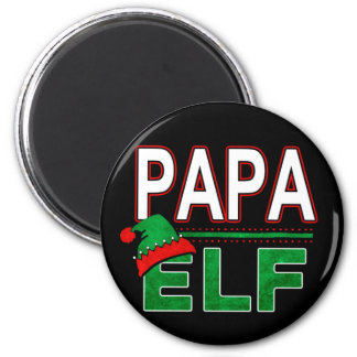 Papa Elf | Team Elf Christmas Holiday Family | Magnet