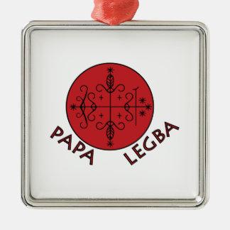 Papa Legba Silver-Colored Square Ornament