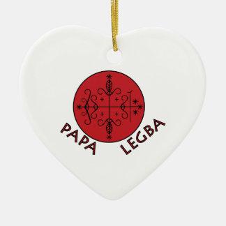 Papa Legba Ceramic Heart Decoration