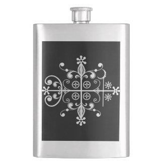 Papa Legba Voodoo Veve Libation Flask