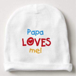 Papa Loves Me Baby Beanie