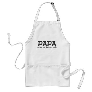 Papa: the Man, the Myth, the Legend Gifts Standard Apron