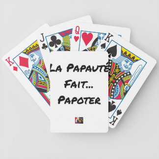 PAPACY MAKES CHATTER - Word games Bicycle Playing Cards