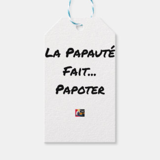 PAPACY MAKES CHATTER - Word games Gift Tags
