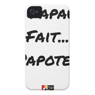 PAPACY MAKES CHATTER - Word games iPhone 4 Case