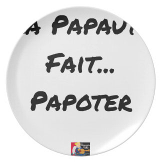 PAPACY MAKES CHATTER - Word games Plate