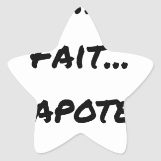 PAPACY MAKES CHATTER - Word games Star Sticker