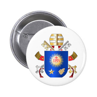 Papal Coat of Arms 6 Cm Round Badge
