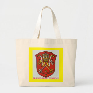 PAPAL TRADITIONAL ROMAN CATHOLIC COAT OF ARMS POPE TOTE BAG