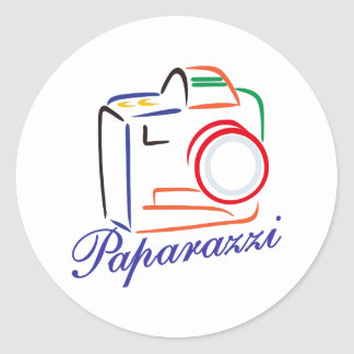 Paparazzi Camera Round Sticker