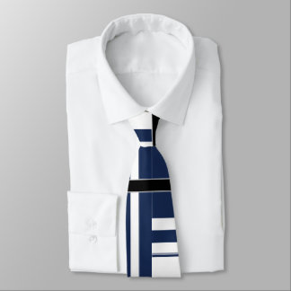 Papa's Blue and White Abstract Tie
