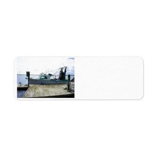 Papas Boat Return Address Label
