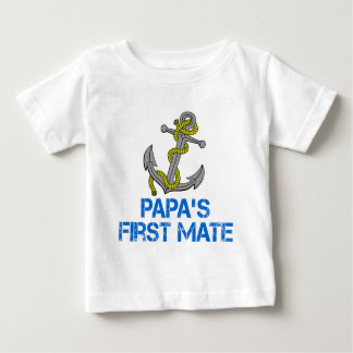 Papa's First Mate Baby T-Shirt