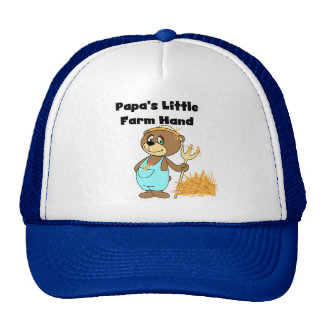 Papa's Little Farm Hand Tshirts and Gifts Cap