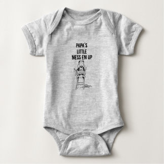 Papa's Little Mess Em Up Baby Bodysuit