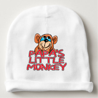 Papa's Little Monkey Baby Beanie