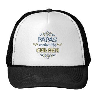 Papas Make Life Golden Trucker Hats