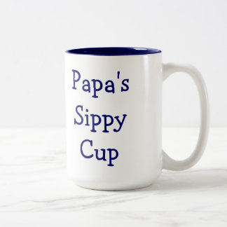 Papa's sippy cup mug