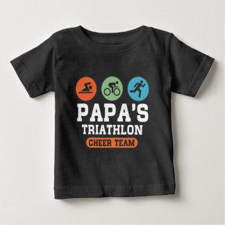 Papas Triathlon Cheer Team Baby T-Shirt
