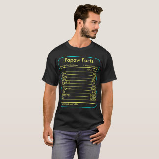 Papaw Facts Servings Per Container Tshirt