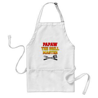 Papaw The Grill Master Southern Grandpa Apron