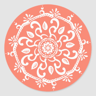 papaya classic round sticker