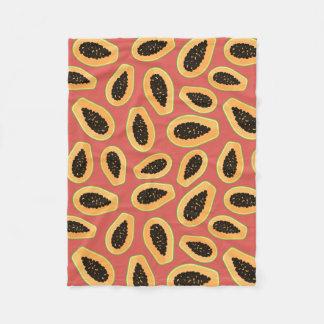 Papaya Fruit Fleece Blanket