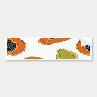 Papaya fruit pattern bumper sticker