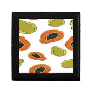 Papaya fruit pattern small square gift box