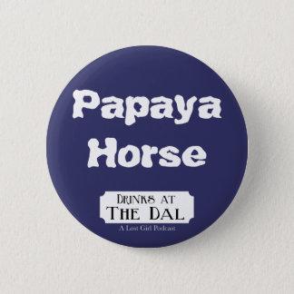 Papaya Horse 6 Cm Round Badge