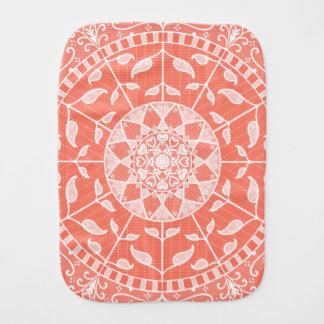 Papaya Mandala Burp Cloth