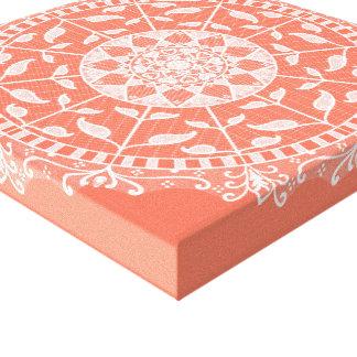 Papaya Mandala Canvas Print